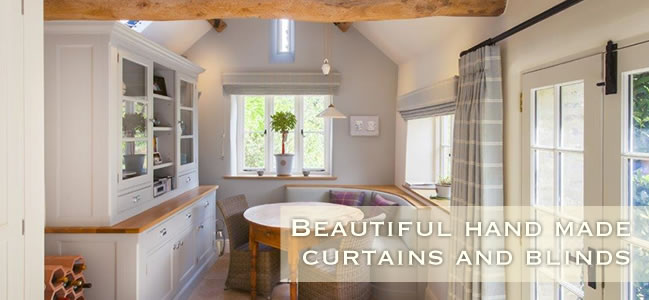 Beautiful handmade curtains and blinds