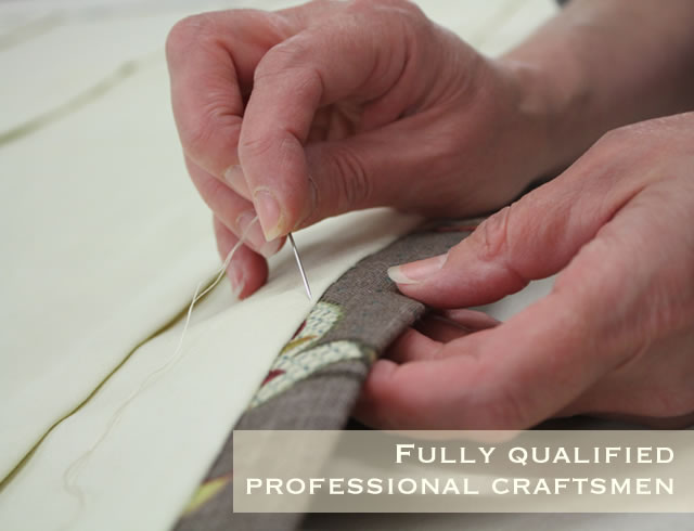 Fully qualified professional craftsmen at Lawrence Furnishings