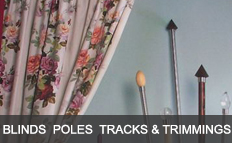 Roller Venetian & Blinds, Poles, tracks and trimmings, Vertical Blinds, Wood & Wrought Iron Poles, Bay Poles, Modern & Traditional, Decorative Finials & Holdbacks, Fully Corded Metal Tracks, Trimmings & Tiebacks